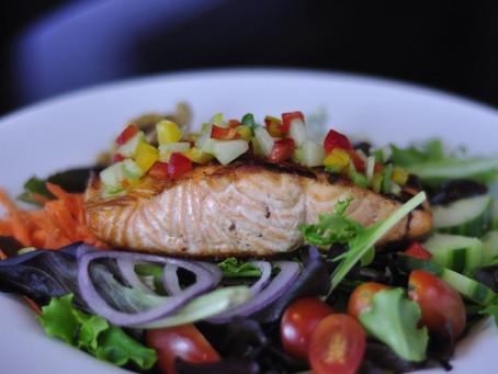 Grilled Salmon Taco Salad