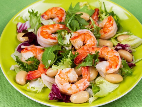 Shrimp & White Bean Salad with Oregano-Chive Vinaigrette