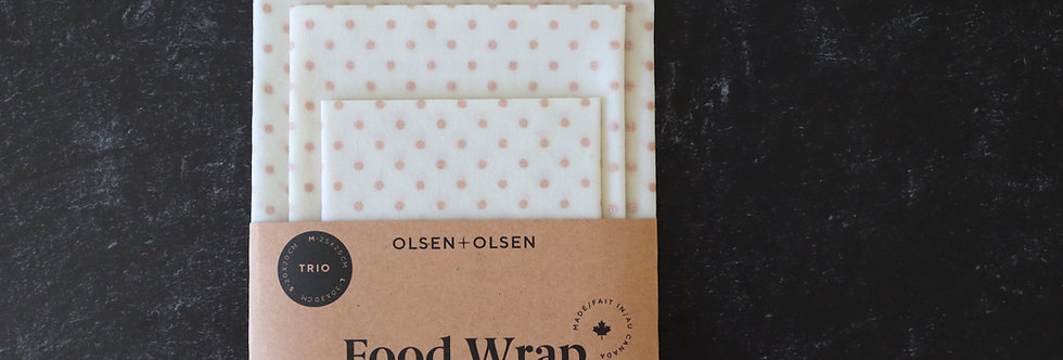 Set of 3 Reusable Food Wraps