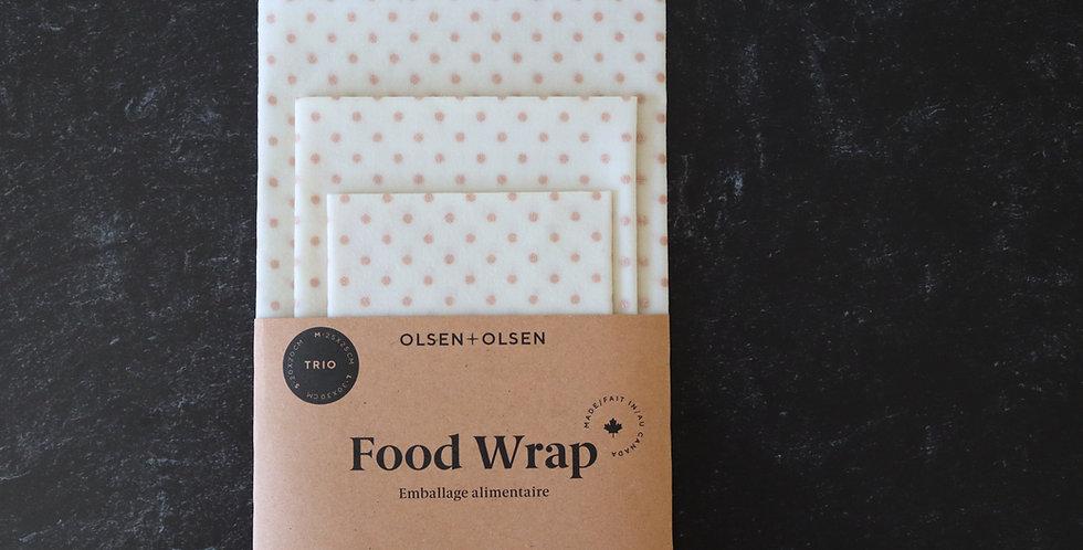 Set of 3 Reusable Food Wraps