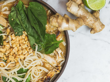 Easy Thai Chicken Ramen