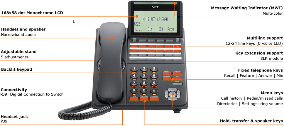 SV9100 - DT530 - Call out - 24-BTN Phone