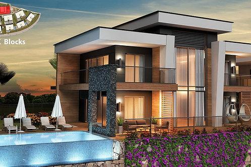 3+1/4+1 Villas with Pool, Garden and Seaview in Konakli, Alanya