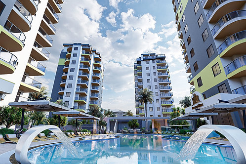 Luxury Apartments with all Activities in  Mahmutlar, Alanya