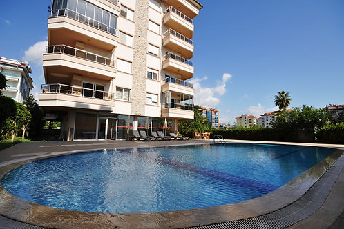 1+1 Apartment with Pool, garden and seaview in Kestel, Alanya
