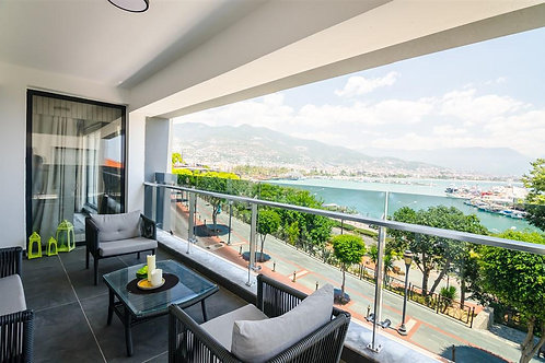 3+1 High Luxury Apartment with full Seaview in Alanya Harbour