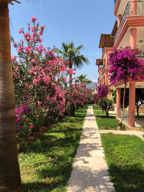 3+1 Dublex with Pool, Garden and Seaview in Kestel, Alanya