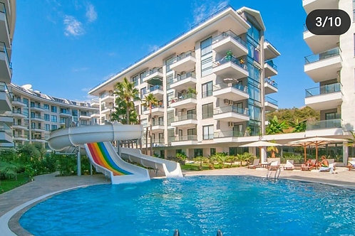 AQUA Penthouse with Pool and Garden in Kestel, Alanya