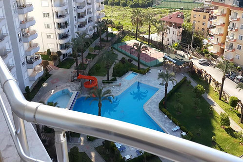GALAXY Apt with Pool, Garden and Seaview in Cikcilli, Alanya
