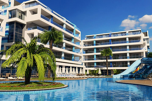 CRYSTAL Residence with Pool, Garden and Seaview in Oba, Alanya