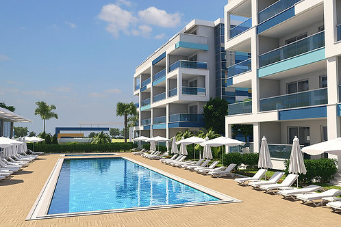 LORY Residence with Pool, Garden and Seaview in Kestel, Alanya