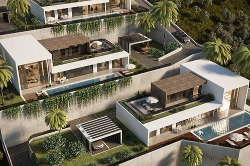 4+1 Villas with Pool, Garden and Seaview in Kargicak, Alanya