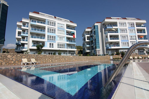 OKAN Apartment with Pool, Garden and Seaview in Kestel, Alanya