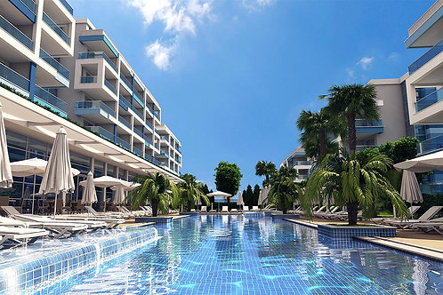 AURA Residence with Pool, Garden and Seaview in Kestel, Alanya