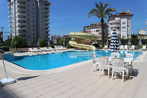 Apartment with pool and garden in Cikcilli, Alanya