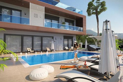 5+1 Villa with Pool, Garden and Seaview in Kargicak, Alanya