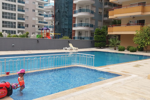 Apartment with Pool, garden and Seaview in Mahmutlar, Alanya