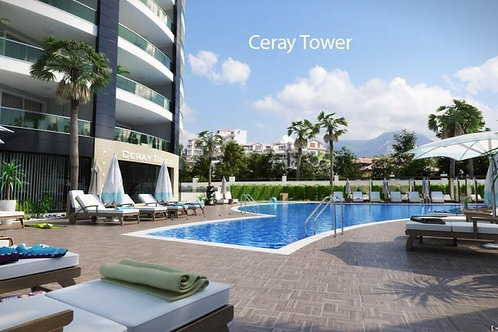 1+1 Luxury Apartment with all Activities in Mahmutlar, Alanya
