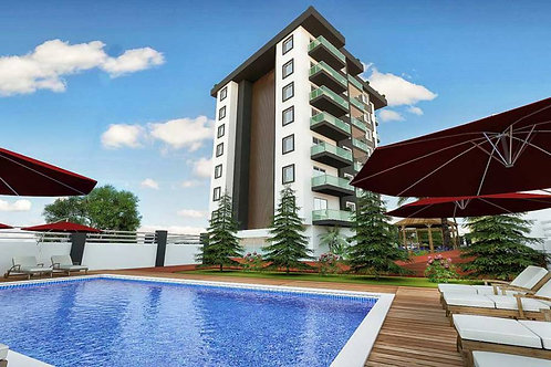 1+1 Apartments with seaview and all Activities in Avsallar, Alanya