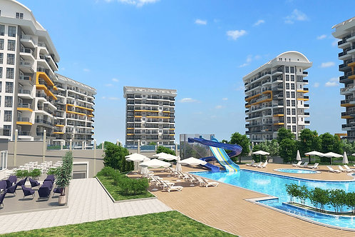 SIBER Residence with Pool, Garden and Seaview in Avsallar, Alanya