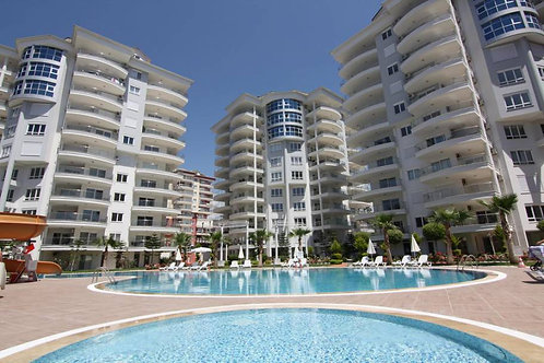Apartment with Pool, Garden and seaview in Cikcilli, Alanya