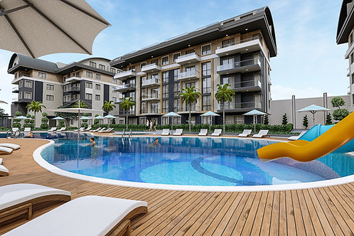 Apartments with all Activities in Oba, Alanya