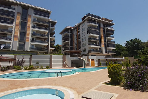 3+1 Apartment with Pool and Garden in Oba, Alanya