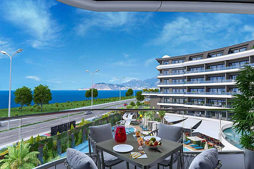 2-5 Rooms Apartments with full Seaview in Mahmutlar, Alanya
