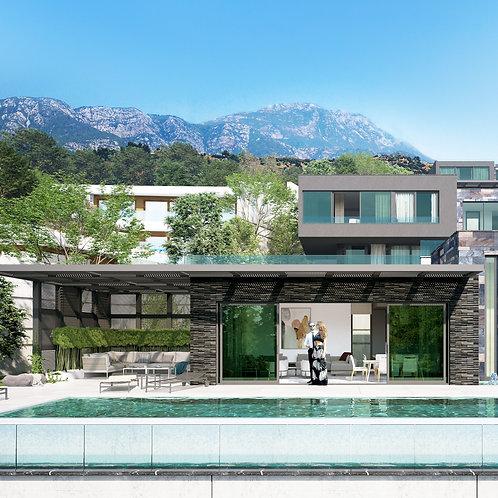 4+1 Luxury Villas with Pool, Garden and Seaview in Bektas, Alanya