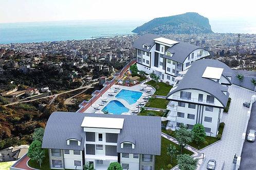 2-4 Rooms Apartments with full Seaview in Bektas, Alanya
