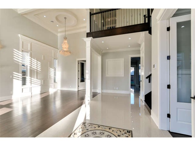 Hardwood floor entry