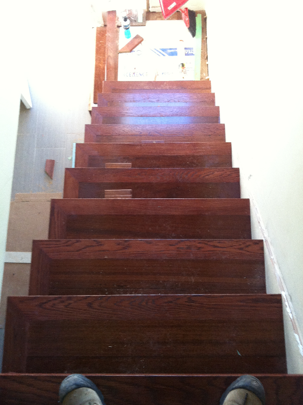 Top View of Stairs