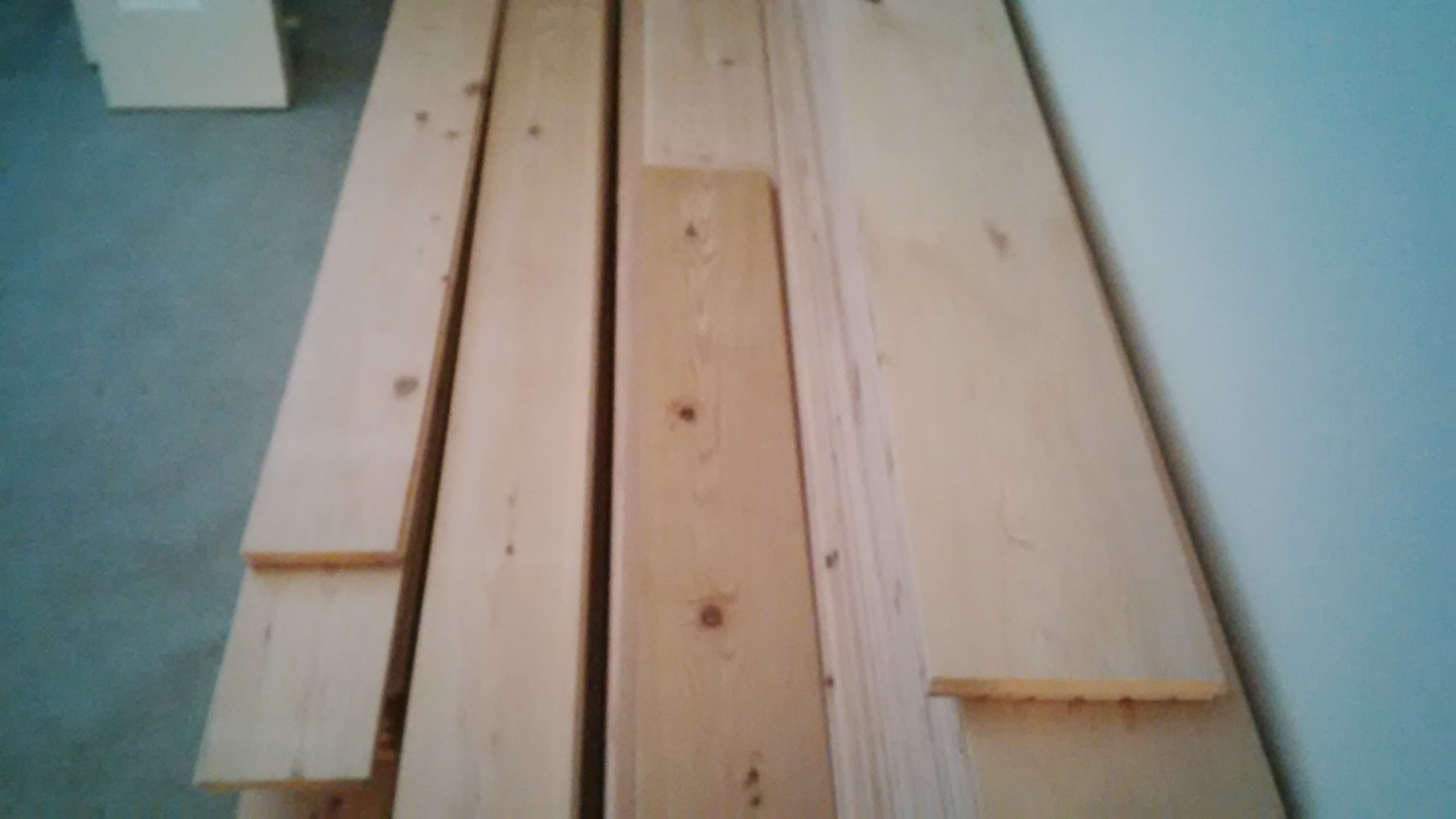 Reclaimed Douglas Fir T&G planks