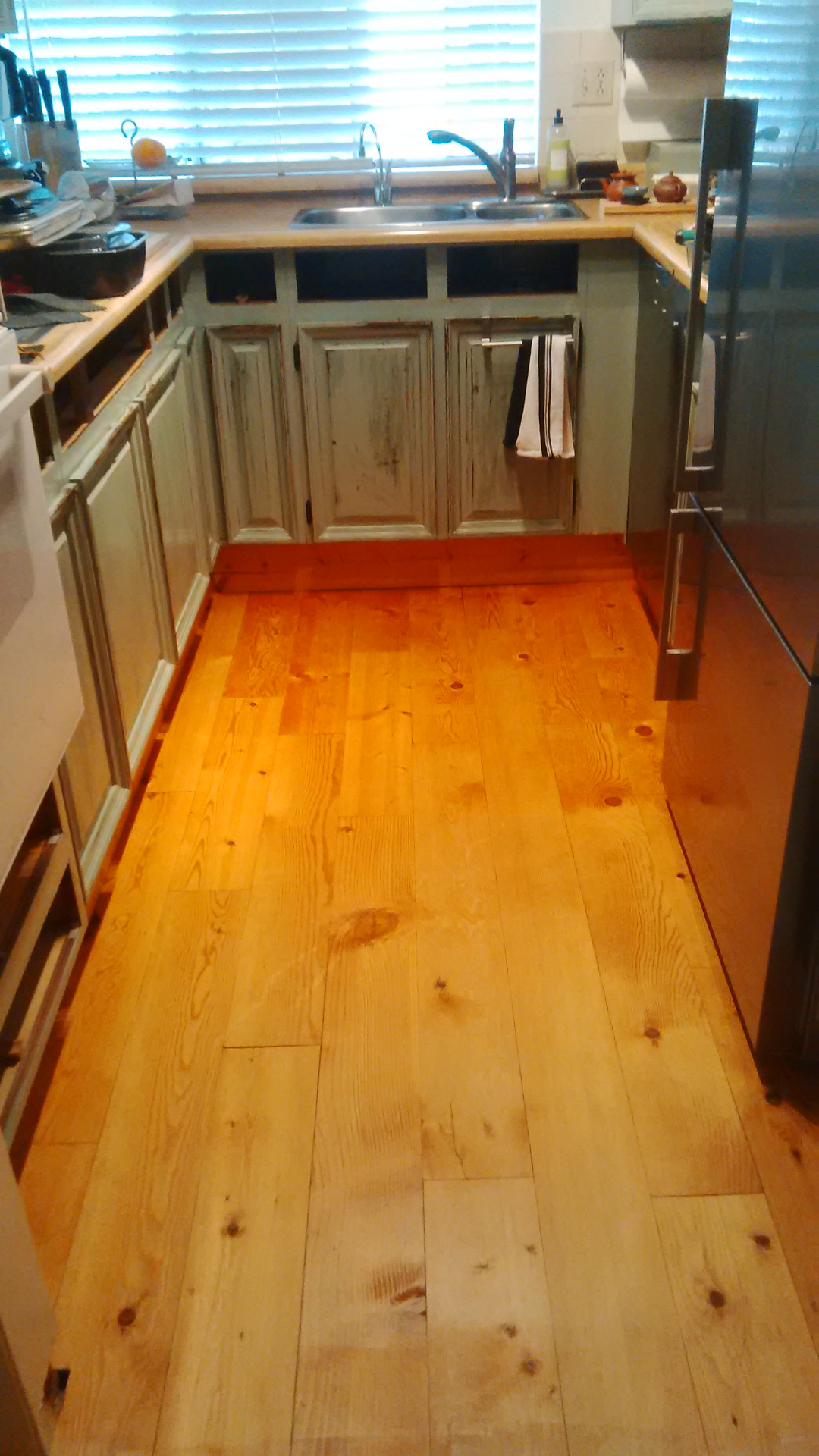 Finished kitchen floors