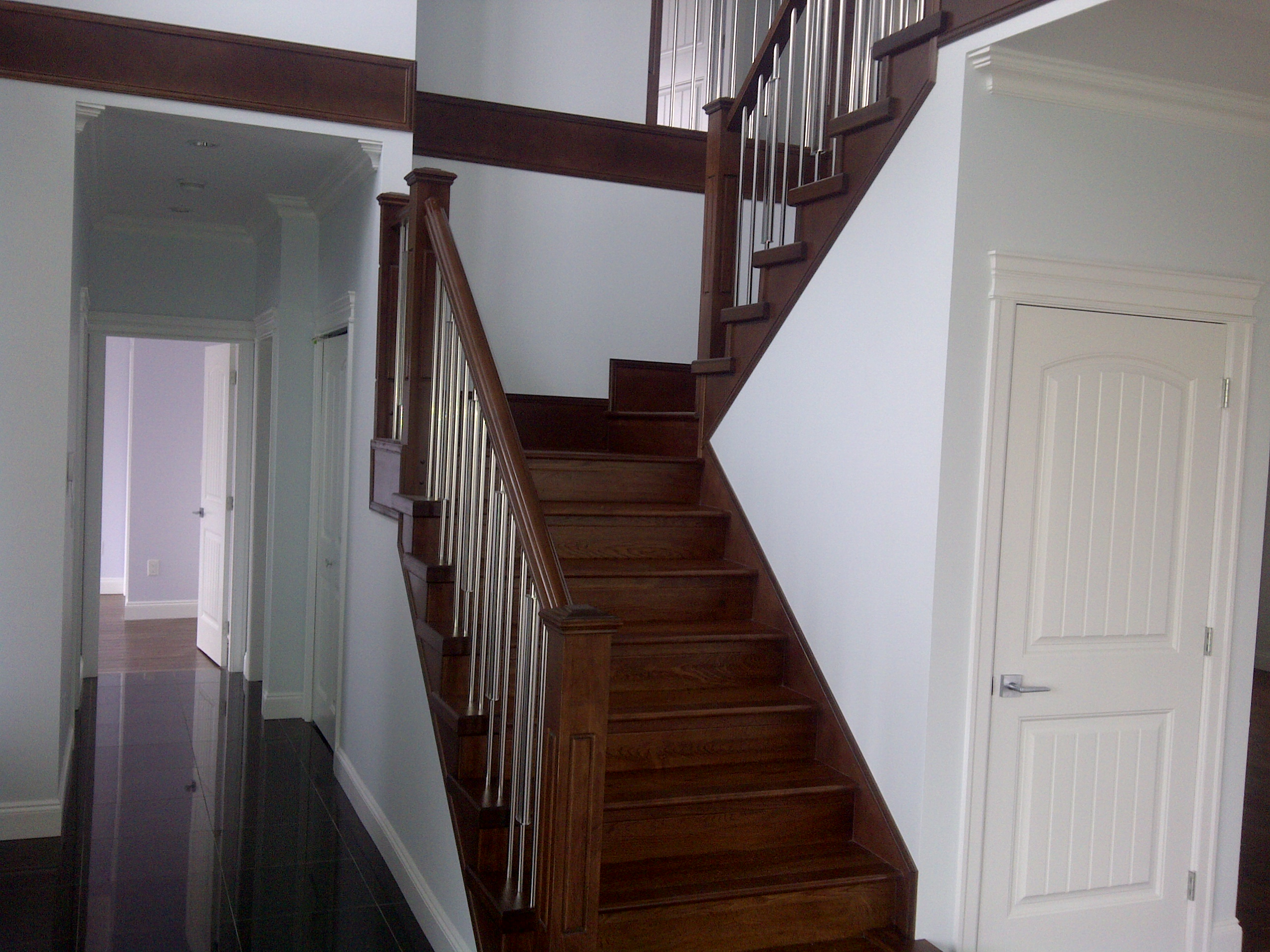 Traditional stairs and railing