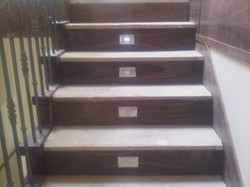 Modern staircase finish w/ LED