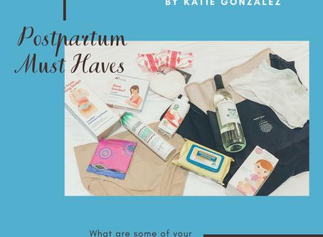 Postpartum Must Haves by Katie Gonzalez