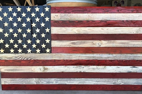 Traditional Style Wooden Flag