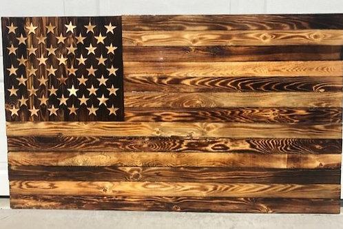 Dark Burned American Flag