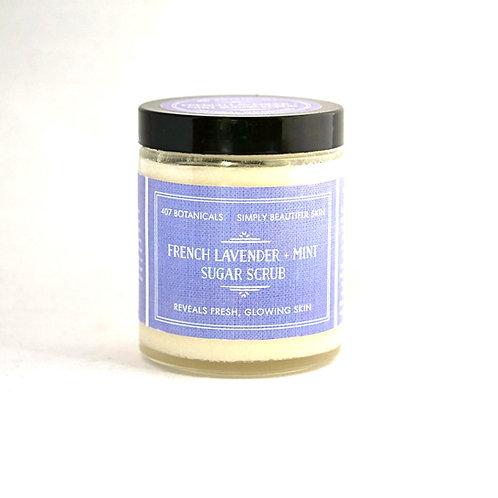 French Lavender + Mint Sugar Scrub