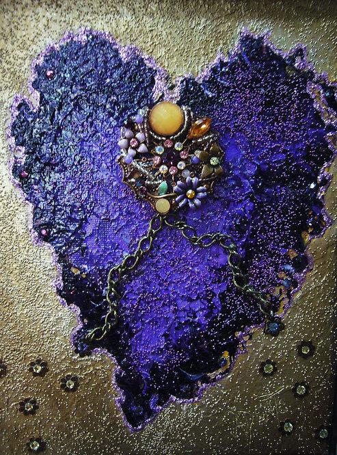 Purple Vintage Heart