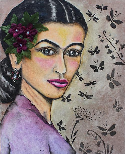 Frida Mariposas 16x20