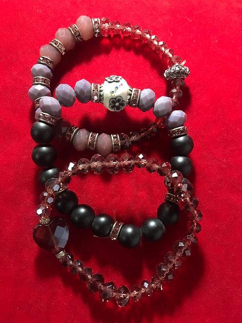Amber Glass  and onyx stone #16