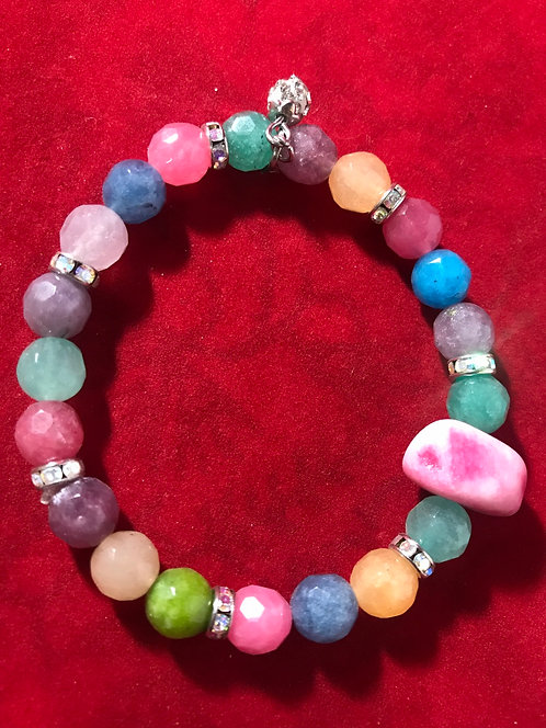 Candy faceted stone #20
