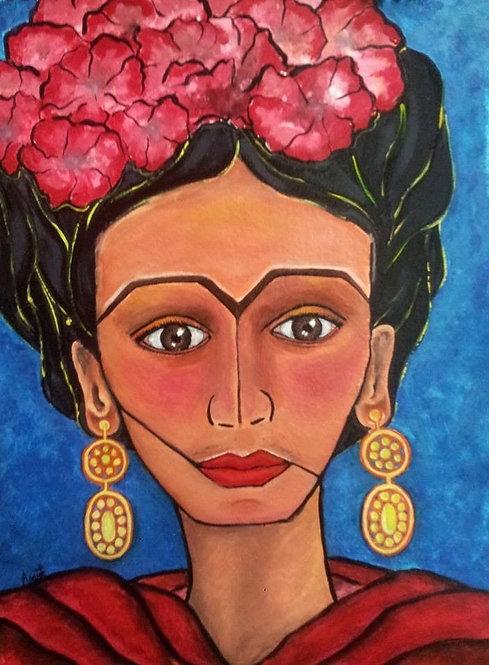 Frida Original Watercolor SOLD