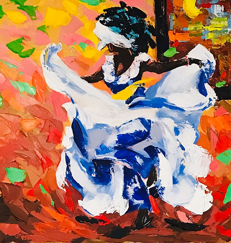 Bomba Dancer by the Window SOLD