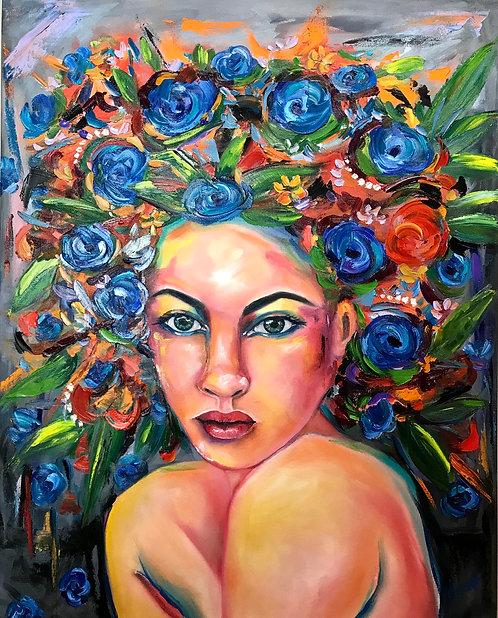 Blue Garden Godess