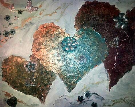 Three Hearts - sold