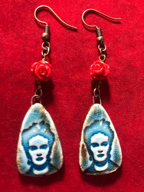 Blue Frida flower