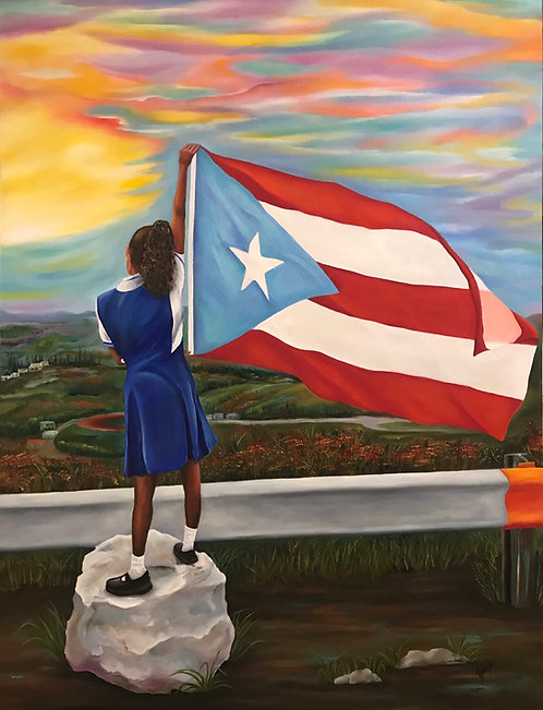 Puerto Rico Rebirth 30x40 Oil on Canvas